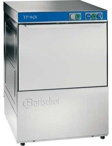 Bartscher Glazenspoelmachine met Waterontharder Deltamat TF401H | Korven  40x40cm.