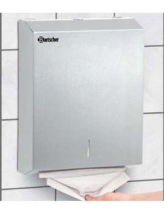 Bartscher Handdoekdispenser voor Wandmontage RVS | B285xD100xH370 mm
