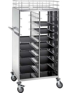 Dienbladenwagen-afruimwagen geschikt voor 1-1 GN of kantinenormdienbladen 443 x 343 mm
