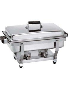 Bartscher Chafing Dish met Houten Handvat | GN 1/1 | 620x350x(H)385mm