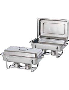 Bartscher Chafing Dish | GN 1/1 | Set van 2 stuks | 610x355x(H)300mm
