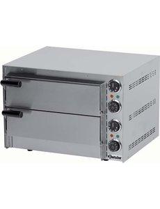Bartscher Pizzaoven met 2 Etages | Pizza max. Ø 35 cm. | 230V / 2000W |  50 °C tot 300 °C