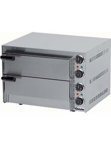 Bartscher Pizzaoven met 2 Etages | Pizza max. Ø 35 cm. | 230V / 2.7kW |  50 °C tot 300 °C