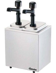 Bartscher Sausdispenser Pompstation met 2 Pompen   2x 3.3 Liter
