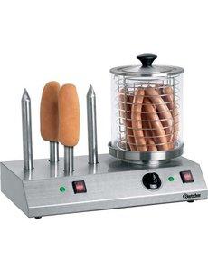 Bartscher Hotdog Worstenwarmer met  4 Broodspiezen | 960Watt |  40 °C tot 100 °C