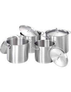 Bartscher Kookpannen set 4-delig met Deksels | Koudgreep(-grepen)