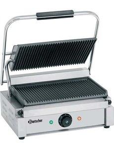 """Contact-grill """"Panini"""" groot grill-vlak in geribbelde uitvoering"""
