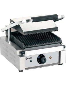 Contact grill, grillplaten geribbeld
