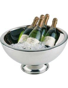 APS Champagne Bowl Wijnkoeler | Dubbelwandig | Hoogglans RVS | 10,5 Liter | Ø44x(H)24cm