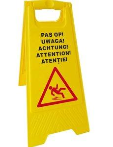 Hendi Waarschuwingsbord | Natte vloer '' Pas op! '' | Hoogte 62 cm.
