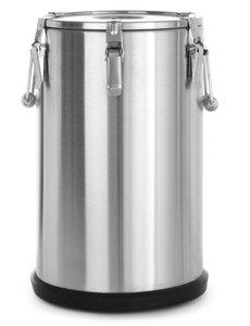 Hendi RVS Gamel Geïsoleerd   35 liter   Ø 330x(H)570 mm