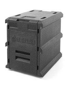 Hendi Thermo Catering Box | 100 Liter | GN 1/1 | Zwart |  635x465xH660 mm.