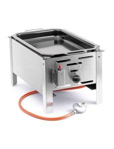 Hendi Bake master mini gasbarbecue met bakplaat | Propaan en butaangas