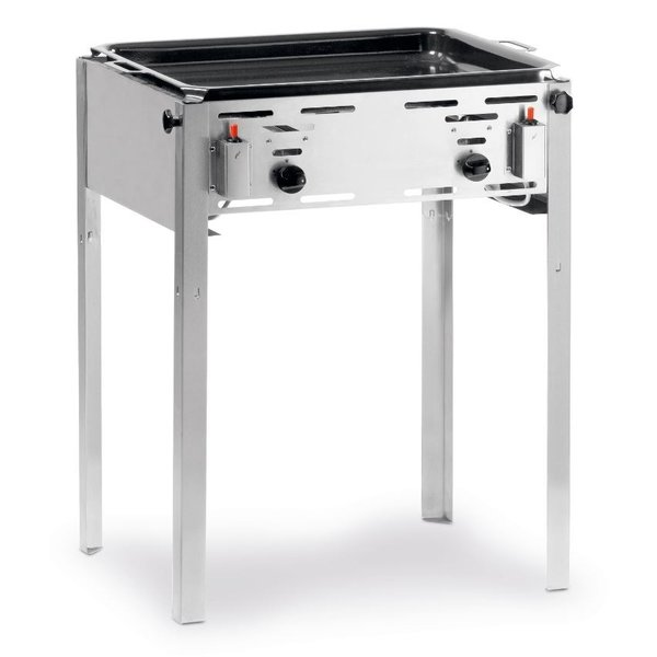 Hendi Hendi Grill Master Maxi Gasbarbecue met Bakplaat en Rooster   Propaan en Butaangas