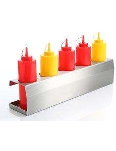 Hendi Saus standaard voor 5x 70 cl dispenser flacons
