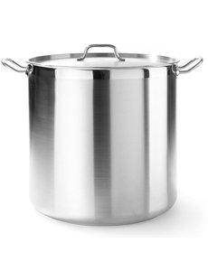 Hendi Kookpan hoog met deksel 37 liter