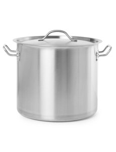 Hendi Kookpan met Deksel Budget Line | 22 liter | Ø32x(H)28 cm.