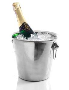 Hendi Wijnkoeler met Ringoren | RVS | 3,3 Liter | Ø 220 x H190 mm