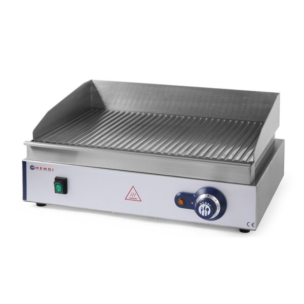 Hendi Bakplaat Blue Line Professional | Geribd | 230V/2400W | 55x42x(H)24cm