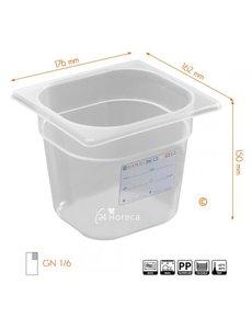 Hendi HACCP polypropyleen voorraaddoos GN 1/6 - 150mm | 176x162mm.