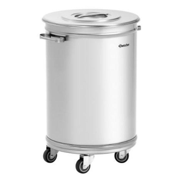 Bartscher Afvalemmer met Zwenkwielen |  56 Liter | B460xD400xH620 mm.