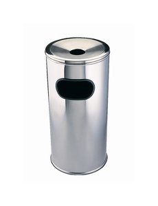 Bolero Afvalbak met uitneembare asbak groot | Ø30xH62 cm.