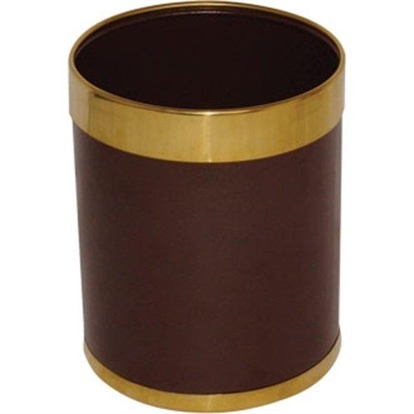 Bolero Bolero Prullenbak Bruin met Gouden Rand | 10,2 Liter |  28(h) x 22,4(Ø)cm
