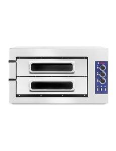 Hendi Pizzaoven Basic 2/50 Vetro | Voor 2 x Ø45 cm. | 400V / 7.5kW |  50° tot 500°C
