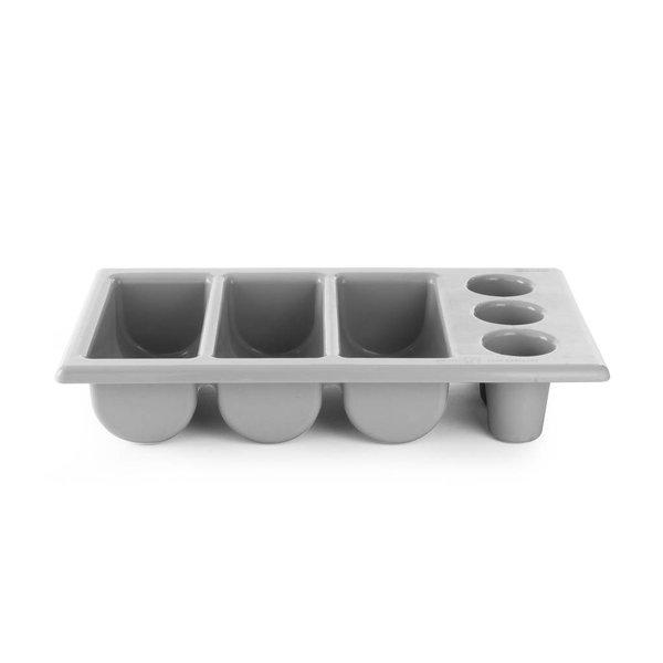 Hendi Hendi Bestekbak 6 vakken | Zwart | 53x32,5x(H)10,5cm