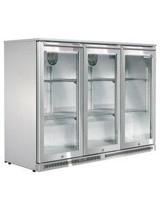 Husky Backbar Koelkast met 3 deuren | RVS | 285 Liter | 135x50x(H)84cm