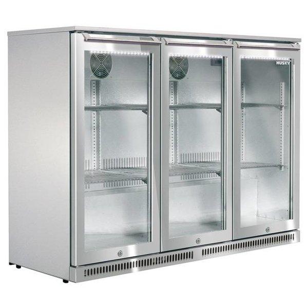 Husky Back Barkoelkast met 3 deuren | RVS | 285 Liter | 135x50x(H)84cm
