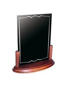 EMGA Krijtbord met houten voet | A5 | Uitneembaar | 20x10x(H)23cm