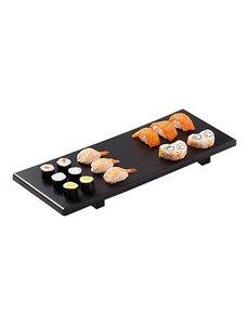 EMGA Sushi-Serveerplateau Zwart | 40x17cm.