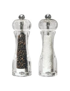 EMGA Peper- en zoutmolen Acryl | Hoogte 14cm | Set van 2 stuks