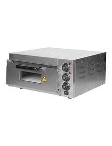 CaterChef Pizzaoven met 1 Etage | 230V/2kW | 50°C-350°C | Intern 40x40 cm.