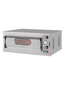 Resto Italia Pizzaoven met 1 Etage | 400V/4.7kW | 50°C-500°C | Intern 66x66 cm.
