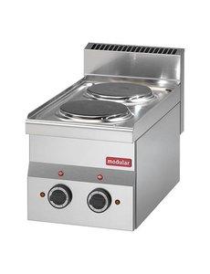 Modular Elektrische Kooktoestel  met 2 Platen | 230V/3.0kW |  28(H)x30x60cm