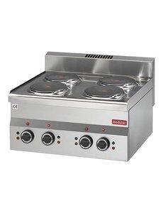 Modular Elektrische Kooktoestel  met 4 Platen | 400V/6.0kW  | 8(H)x60x60cm