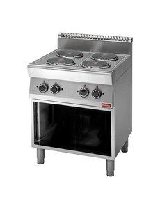 Modular Elektrische Kookplaat met 4 pitten | 400V/9kW | 85(H)x70x70cm