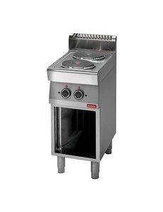 Modular Elektrisch Kooktoestel met 2 pitten | 4.8kW | 400V |  85(H)x40x70cm