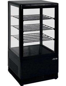 Saro Mini-koelvitrine 70 liter zwart
