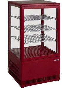 Saro Mini-koelvitrine 70 liter rood
