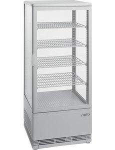 Saro Koelvitrine  met luchtventilatie SC 100 wit