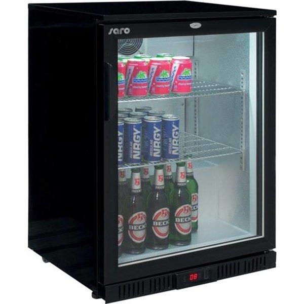 Saro Barkoelkast met glazen deur | 138 Liter | 2 roosters | LED Verlichting |