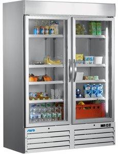 Saro Display koelkast met 2 glazen deuren 1078 Liter |  137x72x(H)199cm