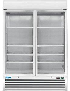 Saro Vrieskast met 2 Glasdeuren Wit | 1078 Liter |  -18 / -24 °C | 137x700x(H)198,5cm