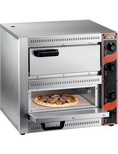 Saro Saro Pizzaoven Tafelmodel | PALERMO 2 | Voor 2 Pizza's van max. Ø 33 cm.