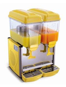 Saro Koude Drank Dispenser Geel   2x 12 Liter   230V/370W   Temp. +3/+8 °C
