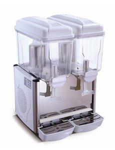 Saro Koude Drank Dispenser Wit   2x 12 Liter   230V/370W   Temp. +3/+8 °C