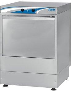 Saro Glazenspoelmachine met Wasmiddelpomp en Naglanspomp | Korven 35x35 cm. | Model MÜNCHEN | 230V / 2.6kW